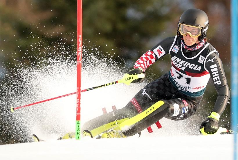Slalom (ž): Rezultat karijere Leone Popović, pobjeda Vlhove