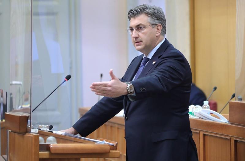 Plenković u Hrvatskom saboru: Proračun osigurava Hrvatskoj gospodarski oporavak