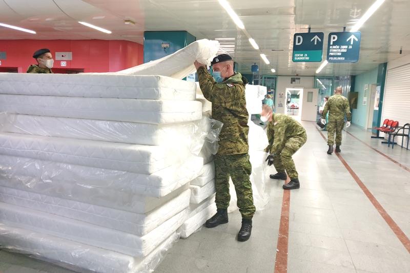 MORH: Hrvatska vojska postavila dodatne krevete u KB Dubrava