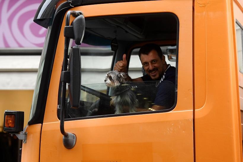 Vozač kamiona na posao poveo svog ljubimca