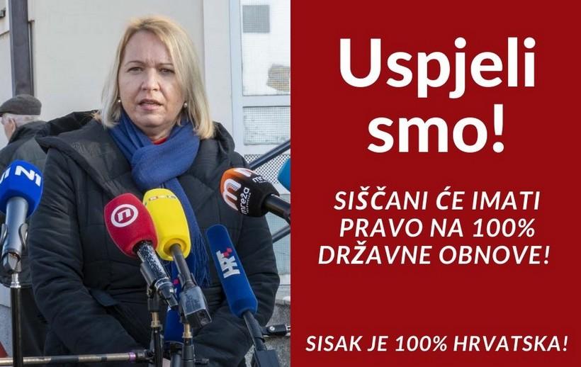 Osvanuli jumbo plakati s gradonačelnicom: 'Sisak je 100 posto Hrvatska'