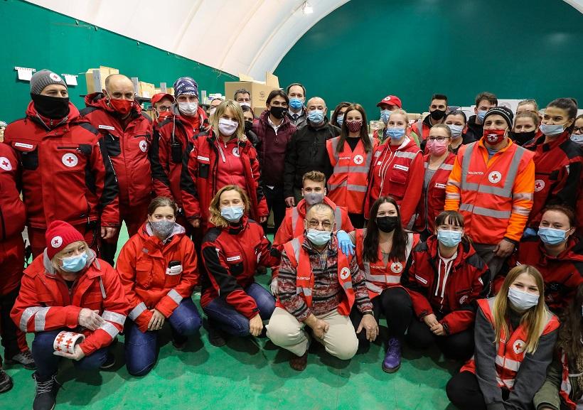 Izbornik Dalić stigao u Petrinju s konvojem humanitarne pomoći iz Livna