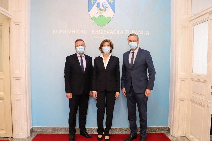 Župan Koren ugostio šeficu Podravke Martinu Dalić: 'Snažnije povezivanje s domaćom proizvodnjom jedan od prioriteta'