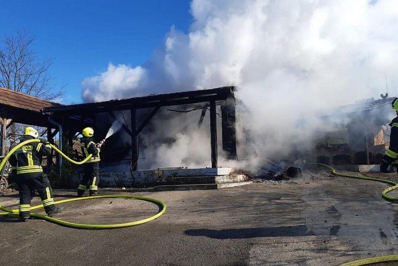 Ložio peć pa zapalio klijet u Svetom Ivanu Zelini