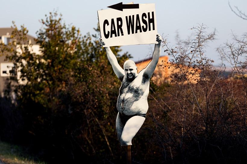 Nesvakadišnja reklama za autopraonicu