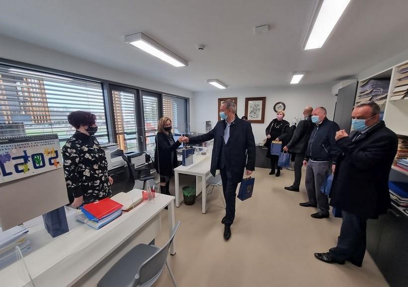 Župan Koren obišao županijske službenike na novoj lokaciji u Đurđevcu