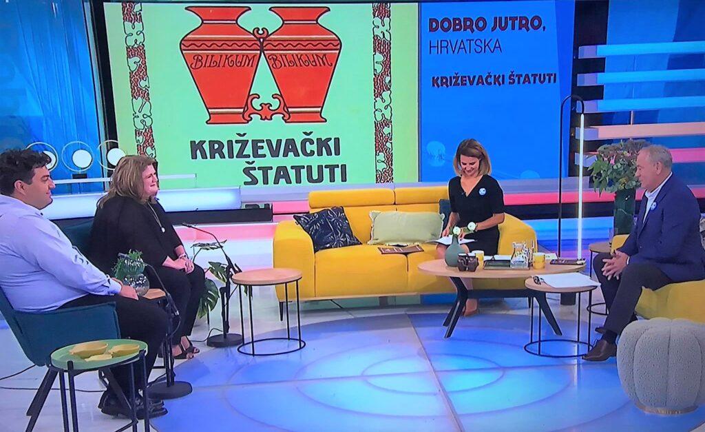 """Križevački štatuti i hrvatski vinski foto natječaj predstavljeni u """"Dobro jutro Hrvatska"""""""