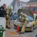 Vatrogasci i policija intervenirali zbog zapaljenja automobila