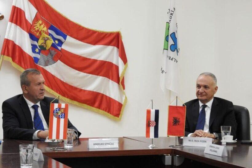 Župan Anđelko Stričak ugostio veleposlanika Albanije